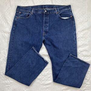 Levi's 501xx Mens Button Fly Size 42 blue denim jeans straight slim 44 X 32