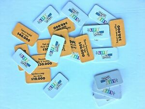 The Game of Life Simpsons Edition 2004 All 25 LIFE Tiles Replacement Pieces Part
