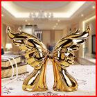 Ceramic 2 x Angel Wings Home Decoration Figurine Display Statue Ornaments J39