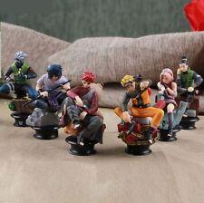 Naruto Shippuden, Set de 6 Figuras, Sasuke, Kakashi, Naruto, Sakura, Gaara