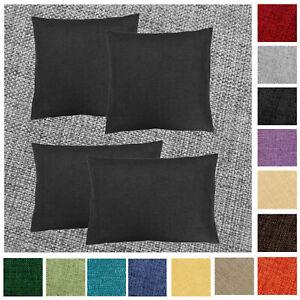 Kissenhülle 2 Stück Leinen Optik 40x40 50x50 40x60 Kissenbezug Einfarbig Sofa