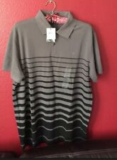 New Mens Calvin Klein Polo Shirt Body Fit Black/grey  Striped Size L And M Avail