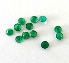5 p.lot Natural Emerald AAA quality Emerald 3 mm round cabochon for jewelry