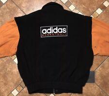 Vintage Adidas Basketball Wool Suede Varsity Jacket Mens Size XL RARE
