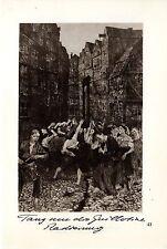Käthe Kollwitz Tanz um die Guillotine/ Frau an der Wiege Historische Grafik1930