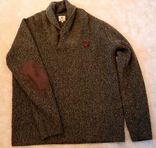 Mens Genuine Green Lyle & Scott Shawl Sweater Size Large