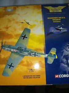"CORGI MESSERSCHMITT 109E JG 26 ""SCHLAGETER"" ADOLF GALLAND SCALE1/72 BOXED UNUSED"