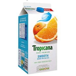 Tropicana Original Orange Fruit Juice w/ no Bits Cartons 6x1.6 ltr 100% Pure NEW
