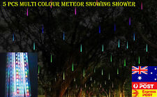 5 PCS 150 LED Multi-Colored Meteor Snowing Shower Melting Icicle Chritmas Lights