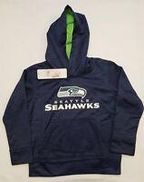 Seattle Seahawks Boys Hoodie   NFL Team Apparel   XS (4/5)   NWT