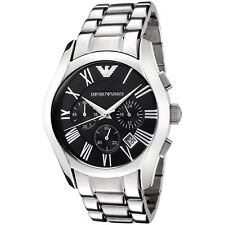 Emporio Armani Classic AR0673 Chronograph Black Dial Stainless Steel Men's Watch
