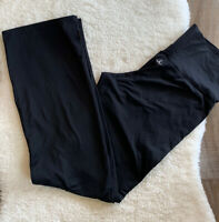 Prana Womens X Small Yoga Athletic Leggings Black With Ankle Slit Lounge Run B11