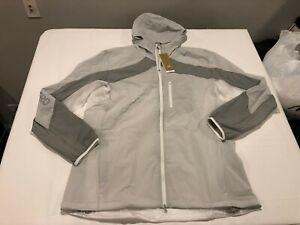 NWT $150.00 Adidas Mens Adizero Marathon Running Jacket White / Grey Size XL