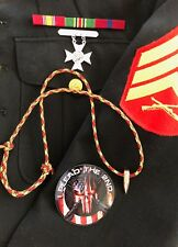 Sniper Paracord HOG TOOTH  .30 Cal ...Necklace ...+ ...Red/Yellow/Black..Marines