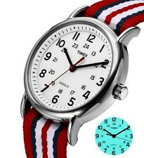 TIMEX T2N746 Weekender Unisex Wristwatch 38mm Fabric Watch Indiglo,Quartz