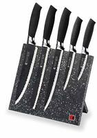 Stainless Steel Knife Set with Magnetic Knife Block Non-Stick 6-Piece