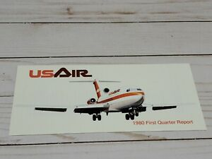 USAir Airlines First Quarter Report 1980 Brochure Aviation History Vintage