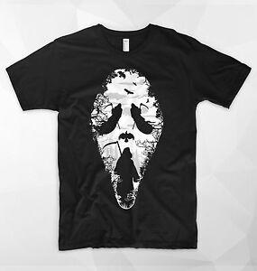 Scream T Shirt Face Mask Ghostface Killer Horror Movie Halloween Zombie Ghost