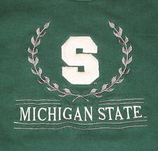 Turtleneck Michigan State Spartans Men's LARGE L Sweatshirt MSU Green 80s vtg