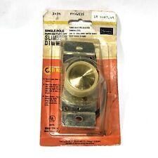 "* Sears Single Pole Push-on/Push-off ""Slimmer"" Dimmer 346035 - Usa Made Nib/Nos"