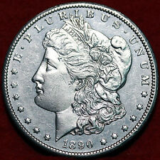 1890-CC Morgan Dollar Uncirculated Liberty Head Dollar 90% Silver Coin