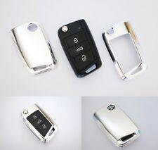 Für VW Golf 7 VII Chrom Schlüssel Cover Key Cover Schlüssel Funk Fernbedienung