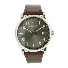 Emporio Armani Men's Ar11175 Brown Leather Japanese Quartz Fashion Watch