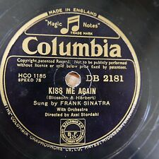 78rpm FRANK SINATRA kiss me again / if you are but a dream