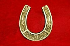 Vintage brass horseshoe cast brass metal handmade art decor wedding gifts