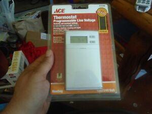 Ace Premium Programmable Line Voltage Heating Thermostat 4191698 120/240 Volt