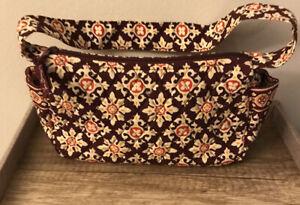 Vera Bradley MEDALLION Brown Print Small Bag Handbag