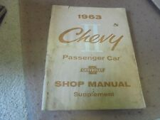 Vintage 1963 Chevrolet Chevy II Passenger Car Shop Manual Supplement