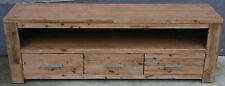 ADRIANA SOLID ACACIA TV ENTERTAINMENT UNIT - 3 DRAWERS  1.8M