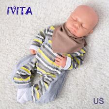IVITA Realistic 18'' Eyes Closed Silicone Reborn Baby GIRL Sleeping Doll 3.2KG