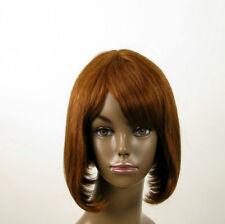 perruque AFRO femme 100% cheveux naturel châtain clair cuivré JACKIE 02/30