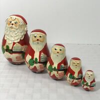 Stacking Dolls Santa Clause North Pole Mail Christmas