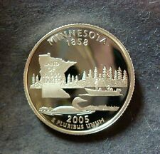 "2005-S 90% SILVER PROOF ""MINNESOTA"" STATE QUARTER FROSTED ULTRA CAMEO 90% SILVER"