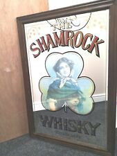 More details for shamrock whiskey dublin extra large mirror advertising pub bar collectable...