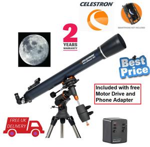 Celestron AstroMaster 80EQ-MD Refractor Telescope with Motor Drive (UK Stock)