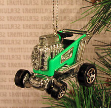GATOR BAIT MARKET SHOPPING CART DRAGSTER HOT ROD GREEN CHRISTMAS ORNAMENT XMAS