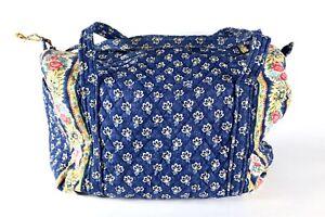 Vera Bradley Maison Navy Blue Floral  XL Weekender Bag Tote Travel Retired