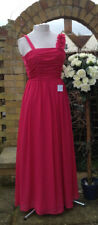 NEW & Tagged Girls PROM dress Age 14 Years / Bridesmaid Cerise Pink Emb Strap