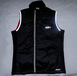 LOUIS GARNEAU Mens ALPHA Polartec Vest-Size SLIM Large-color Black-New Condition