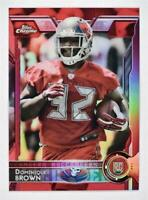 2015 Topps Chrome Red Refractors #179 Dominique Brown /25 - NM-MT