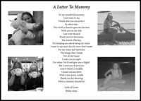 A4 Personalised poem for Mum, Birthday, Christmas Gift with your own pictures
