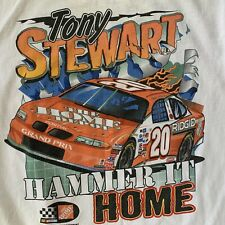 Vtg Home Depot Tony Stewart Hammer It Home 1999 NASCAR Tee Shirt XL