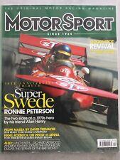 Motorsport Magazine -  October 2008 - Prost v Senna, Ronnie Peterson, F Massa