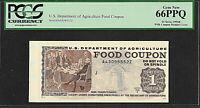 Food stamp Coupon $1.00 1996  B PCGS   GEM NEW 66PPQ USDA  SCRIP WELFARE
