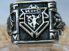 KNIGHTS OF COLUMBUS RING  Silver