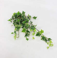 3 x Trailing Artificial Ivy Bush on Spike 70cm, Variegated (Cream/ Green) Plants